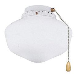 Joshua Marshal - One Light Oil Rubbed Bronze Fan Light Kit - One Light Oil Rubbed Bronze Fan Light Kit