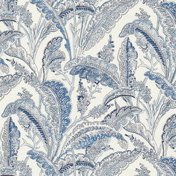 "Ballard Designs - Antibes Blue Fabric by the Yard - Content: 100% Cotton. Repeat: Non-railroaded fabric with 18"" repeat. Care: Dry clean. Width: 54"" wide. Soft, painterly florals printed in shades of French and sky blue on crisp 100% cotton.  .  .  .  . Because fabrics are available in whole-yard increments only, please round your yardage up to the next whole number if your project calls for fractions of a yard. To order fabric for Ballard Customer's-Own-Material (COM) items, please refer to the order instructions provided for each product.Ballard offers free fabric swatches: $5.95 Shipping and Processing, ten swatch maximum. Sorry, cut fabric is non-returnable."
