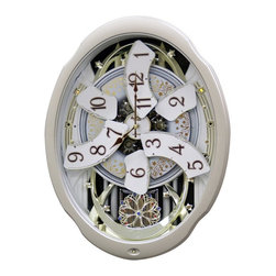 Rhythm Clocks - Marvelous Musical Wall Clock Cream 4MH842WD18 - At the top of each hour, the MAGIC Begins!