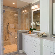 Traditional Bathroom by Custom Kitchens Inc
