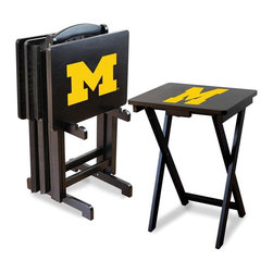 Imperial International - NCAA TV Trays with Stand, N/A, University of Michigan, N/A - Check out these GREAT Tray Tables. They're a great way to show your team spirit on game day or movie night! They're a perfect accessory for your Man Cave, Game Room, Garage or Basement.