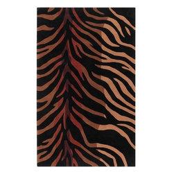 Surya Rugs - Cosmopolitan Black / Rust Contemporary Rug - COS-8866 - Construction: Hand made