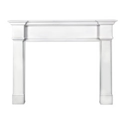 """Pearl Mantel - The Richmond Fireplace Surround, White, 48"""" - A welcome addition to your collection of fireside friends. This fireplace surround compliments your fireplace and its accessories, and adds a finishing touch of elegance to the scene."""