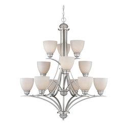 Vaxcel Lighting - Vaxcel Lighting AL-CHU012 Avalon 12 Light Three Tier Chandelier - Features: