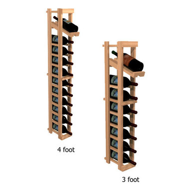 """Wine Cellar Innovations - One Column with Display Winemaker Series Individual Bottle Kit Wine Rack in Rust - Each wine bottle stored on this one column individual bottle wine rack is individually cradled with a built in display row to show off your wine labels. These wine racks must be mounted 1 1/2"""" off the wall to ensure proper wine bottle stability. Assembly Required."""