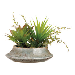 Silk Plants Direct - Silk Plants Direct Succulent Garden Arrangement (Pack of 4) - Silk Plants Direct specializes in manufacturing, design and supply of the most life-like, premium quality artificial plants, trees, flowers, arrangements, topiaries and containers for home, office and commercial use. Our Succulent Garden Arrangement includes the following: