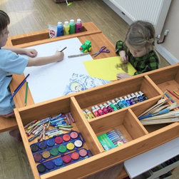 Children furniture - Art and craft help build up physical co-ordination among kids: Activities like painting, drawing, coloring, cutting, joining and gluing things together to form a new object improve motor coordination in children.