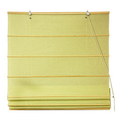 Oriental Unlimited - Cotton Roman Shades in Yellow Cream (48 in. W - Choose Size: 48 in. WideThese Yellow Cream colored Roman Shades combine the beauty of fabric with the ease and practicality of traditional blinds. Made of 100% cotton. Easy to hang and operate. 24 in. W x 72 in. H. 36 in. W x 72 in. H. 48 in. W x 72 in. H. 60 in. W x 72 in. H. 72 in. W x 72 in. H