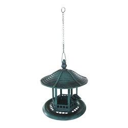 Alpine - Green Hanging Metal Bird Feeder - Features:Dimensions: