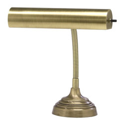 House Of Troy - House Of Troy Advent Transitional Piano/Desk Lamp X-17-02-01PA - Gooseneck piano lamp with 9 foot brown cord. Shade swivels to direct light.