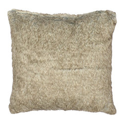 None - Bear Faux Fur 18-inch Throw Pillow - Expertly woven from luxurious yarns in rich tones of brown,this unique faux fur pillow provides the comfort and softness of genuine fur. Versatile reversibility and neutral colors will add decorative flair to any bedroom's decor.
