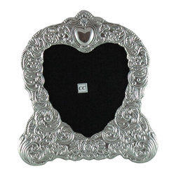 Sterling Silver 5x5 Picture Frame - Heart - -Made from 950 Peruvian sterling silver