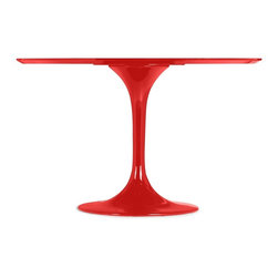 Zuo Modern - Zuo Modern Wilco Modern Dining Table X-471201 - The Wilco table echoes some of the great Mid-century design with its tulip base and bevel edge round top. Its top is glossy painted MDF and its base is glossy coated fiberglass.