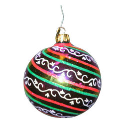 Radko - Radko Ivy Swirl (00-438-0) Holiday Christmas Ornament R1 - Radko Ivy Swirl (00-438-0) Holiday Christmas Ornament R1