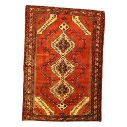 eSaleRugs - 4' 3 x 6' Hamedan Persian Rug - SKU: 110896806 - Hand Knotted Hamedan rug. Made of 100% Wool. 40-50 Years(Semi Antique).