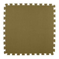 Greatmats - Greatmats Foam Floor Tile, 10 Pack, Brown - This is a 10 pack of tiles. Free Shipping. Each tile is 2x2 ft in size and covers 4 SF, this 10 pack of foam tiles will cover 40 SF. 2 Border strips included per tile. Ships ground to your door.