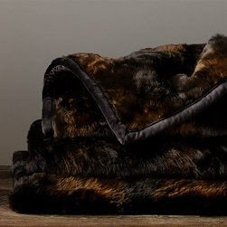 Faux Fur Throw, Brown Bear - Cozy up with this faux fur blanket. I imagine curling up in a club chair next to the fire, of course all while sipping hot cocoa.