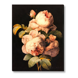 Gallery Direct - Pierre-Joseph Redoute's 'Still life with Peonies' Canvas Gallery Wrap, 38x47 - Pierre-Joseph Redoute, nicknamed the Raphael of flowers, was a painter and botanist from the Southern Netherlands, known for his watercolors of roses, lilies and other flowers. He was an official court artist for Queen Marie Antoinette. Redoute contributed over 2,100 published plates depicting over 1,800 different species, many never rendered before.
