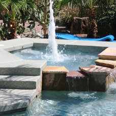 Modern Pool by Shasta Pools and Spas