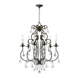 Crystorama - Crystorama Ashton Chandelier - 21.5W in. - 5016-EB-CL-MWP - Shop for Chandeliers from Hayneedle.com! About Crystorama Inc.With more than 40 years of experience Brooklyn-based Crystorama Lighting has a worldwide reputation for premium-quality products and professional service. This family-owned company was founded in 1958 by Abraham Kleinberg. Originally dedicated to importing Bohemian chandeliers Crystorama now sources out the best quality crystal worldwide. These superior crystal brass and wrought iron chandeliers carry on a rich tradition of craftsmanship and authenticity.