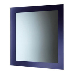 Gedy - Blue Mirror With Lacquered Frame - Keep your personal bath looking contemporary with this high-end wall mount vanity mirror from the Gedy Maine collection.