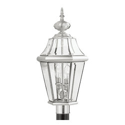 Livex Lighting - Livex Lighting 2264-91 Outdoor Post Head - Glass Type/Shade Type: Clear Beveled Glass
