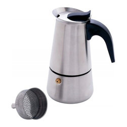 Unknown - Chef's Secret® Heavy-Gauge Stainless Steel 4-Cup Espresso Maker - Features brushed heavy-gauge stainless steel finish, opening cover lever, sturdy handle, filter strainer, upper filtered reservoir, and lower water chamber. Limited lifetime warranty.