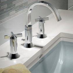 American Standard Berwick 7430.821.002 Widespread Bathroom Sink Faucet - Graceful lines and updated cross handles give the American Standard Berwick 7430.821.002 Widespread Bathroom Sink Faucet divine style. Modern innovation and style! Additional Features: Ribbon-inspired modern design with cross handles Swivel spout rotates for easy rinsing Speed Connect drain saves installation time Seals correctly the first time -- no adjustments required Flexible stainless steel cable for easy installation Ceramic disc valve cartridge for drip-free operation Exclusive handle alignment system for fine tuning About American StandardIt all begins with an unmatched legacy of quality and innovation for more than 130 years. This tradition has put American Standard in three out of five homes in America, plus countless hotels, airports, and stadiums. They provide the style and performance that fit perfectly into your life, wherever that may be.