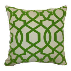 "The Pillow Collection - Maeret Moorish Tile Pillow Keylime 18"" x 18"" - Bold and interesting, this Moorish Tile throw pillow will add a contemporary flair to your home. This accent pillow features a refreshing Keylime hue perfect for the holiday season. This decor pillow is made from 100% soft cotton fabric. Decorate this square pillow on top of your favorite home furnishings for a touch of elegance. This 18"" pillow is great for formal and casual settings. Hidden zipper closure for easy cover removal.  Knife edge finish on all four sides.  Reversible pillow with the same fabric on the back side.  Spot cleaning suggested."