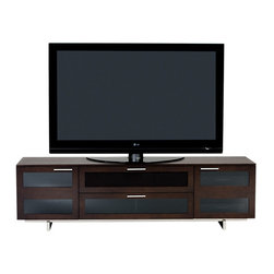 BDI - Avion II TV Stand, Quad Wide With Freestanding - Hey, watch it! The media center of your dreams, that is. This handsome wood piece has got it all: Adjustable shelves, cleverly hidden wheels, easy cable management — plus a sleek look that fits seamlessly into your decor.