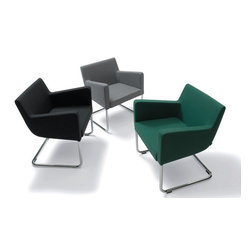 Cosy Armchair by B&T Design - Great style and amazing comfort are the hallmarks of the sleek Cosy armchair. Wouldn't four of these beauties be stunning around a modern coffee table with chrome base and round glass top?