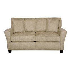 SoFab - Sofab Angel Pewter Love Seat - The Angel pewter love seat is a great addition to any room.  The Angel collection features clean transitional styling, tear drop shaped arms and comfortable seating.  The Sofab construction makes this love seat durable and easy to get in to hard to reach places.