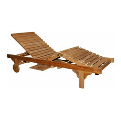 Unfinished Brianna Sun Lounger w Arm - Set of 4