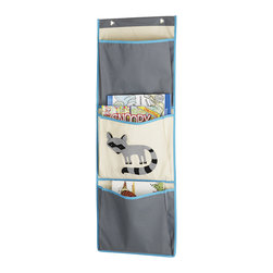 Whitmor - Raccoon Over The Door Pocket Organizer - Featuring sturdy canvas for years of use and an adorable design, this kid-friendly organizer adds instant storage to the play area. It's roomy enough to hold plenty of books, magazines and more.   14'' W x 40'' H Canvas Imported