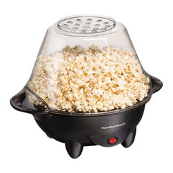 HAMILTON BEACH BRANDS, INC. - Hamilton Beach Hot Oil Popcorn Popper, Popcorn Popper - Hamilton Beach Hot Oil Popcorn Popper makes a heaping bowl of theater-quality popcorn within four minutes. User can customize the corn and serve it savory, sweet or simply salted. It has easy clean nonstick surface with on-off switch. Its motorized bar stirs kernels as they heat up for fluffy and thorough popping.