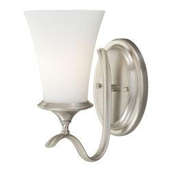 Vaxcel - Vaxcel W0029 Sonora 1-Light Vanity Satin Nickel - Vaxcel W0029 Sonora 1-Light Vanity Satin Nickel