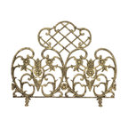 UniFlame - Single Panel Antique Gold Cast Aluminum Screen - Series:  Antique Gold