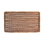 Entryways - Rectangular Stripes Wire Brush Bootscraper Doormat - Intricate in design, this mat is crafted with the perfect combination of coconut fiber and wire. The result is a bootscraper designed to stand the test of time. It's tough enough to scrape boots on, yet unmistakably elegant to impress all your visitors.