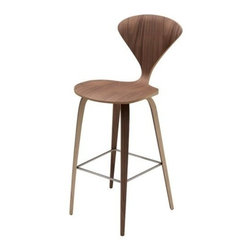 Nuevoliving - Nuevo Living Satine Bar Stool - Walnut - Features: