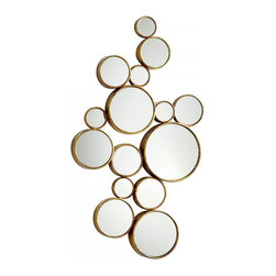Joshua Marshal - Iron and Glass Bubbles Mirror Gold - Iron and Glass Bubbles Mirror Gold