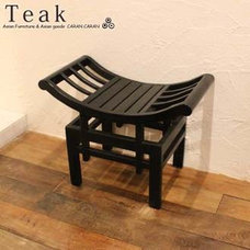 Rakuten: One credit ベンチカルティニチェアブラック of the teak | Bali furniture horse mackerel