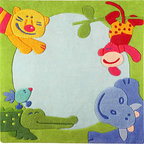 HABA Jungle with Happy Animals Area Rug - Super cute rug with absolutely tame animals.
