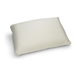 Innergetic - Innergetic Natural Latex Noodle Pillow - Feels Like Down!, King - Made with natural micro latex noodles providing a down like feel with the natural resilience of latex foam.  Filled with 100% shredded latex, no polyester filling.  Natural Latex Rubber provides uplifting support to your neck and bottomless pressure relief for your head.  Hypoallergenic, mold and mildew proof, and resists bedbugs.  Breatheable and allows for air circulation so you sleep cooler.