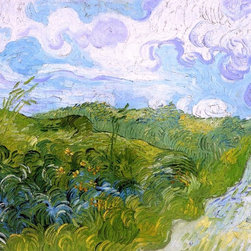 "Vincent Van Gogh Green Wheat Fields - 16"" x 20"" Premium Archival Print - 16"" x 20"" Vincent Van Gogh Green Wheat Fields premium archival print reproduced to meet museum quality standards. Our museum quality archival prints are produced using high-precision print technology for a more accurate reproduction printed on high quality, heavyweight matte presentation paper with fade-resistant, archival inks. Our progressive business model allows us to offer works of art to you at the best wholesale pricing, significantly less than art gallery prices, affordable to all. This line of artwork is produced with extra white border space (if you choose to have it framed, for your framer to work with to frame properly or utilize a larger mat and/or frame).  We present a comprehensive collection of exceptional art reproductions byVincent Van Gogh."
