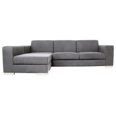 Modern Sofas Long Island Sectional Sofa Grey Fabric