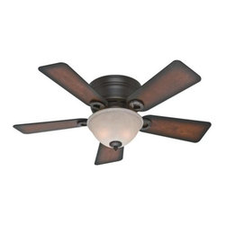 Hunter - Hunter Conroy Ceiling Fan in Onyx Bengal - Hunter Conroy Model HU-51023 in Onyx Bengal with Reversible Onyx Bengal/Burnished mahogany Finished Blades.