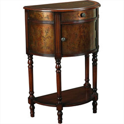 "Hammary - Hidden Treasures Demilune Accent Table - ""Hammary's Hidden Treasures collection is a fine assortment of unique accent pieces inspired by some of the greatest designs the world over. Each selection is rich in Old World icons and traditions."