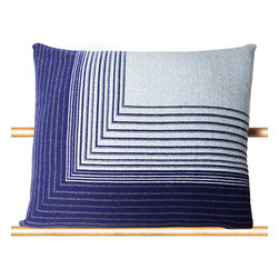 """Tabula Rasa - Isoline Pillow in Navy - 20"""" x 20"""" - Tabula Rasa - Tabula Rasa defined as """"Blank Slate"""" is conceived of the concept that any space we inhabit should be a template to express personal style beyond clothing and a vessel for the comforts and luxuries of your actual home - wherever that may be.  Be it a bedroom, weekend cabin or studio, Tabula Rasa brings your own space along with you.  No place should be a barrier to style and you should never travel without yourself."""