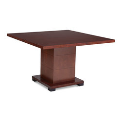 Zuri Furniture - Ford Executive Conference Table - Light Wood - Need a small, cozy, classic setting for your next business deal? The Ford contemporary conference table exhibits all the best in class offering an affordable, contemporary solution for any modern meeting space. Beautiful light brown oak wood grain finish. Seats 4 comfortably.