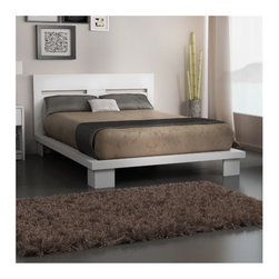 "Stellar Home - Cosmopolis Queen Platform Bed - Simple and modern, the Cosmopolis Platform Bed is created for a vibrant lifestyle. This centerpiece bed will give your room a sense of style, tranquility and harmony. Features: -Constructed of engineered wood. -Aqua SEAL finish for more durability (water and heat resistant). -Made to fit perfectly the queen size mattress (60'). -Support system with full board for a better support. -1 year Limited warranty. -Overall dimensions: 9.5"" H x 68"" W x 85"" D."